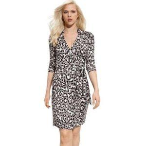 DVF New Jeanne Silk Wrap Dress